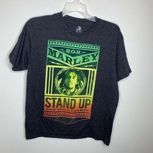 Mens L Grey Bob Marley Stand Up For Your Rights
